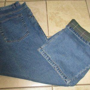 Burry Lane Jeans - Mens Burry Lane Lined Denim Jeans 42x32